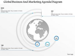 1114 Global Business And Marketing Agenda Diagram Powerpoint Template