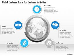 1114 Global Business Icons For Business Activities Powerpoint Template