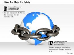 1114 Globe And Chain For Safety Image Graphics For Powerpoint