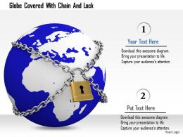1114 Globe Covered With Chain And Lock Image Graphics For Powerpoint