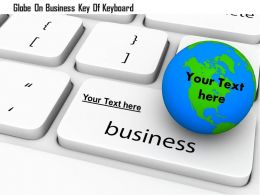 1114 Globe On Business Key Of Keyboard Image Graphics For Powerpoint