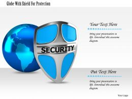 1114 Globe With Shield For Protection Image Graphics For Powerpoint