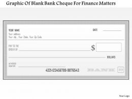 1114 Graphic Of Blank Bank Cheque For Finance Matters Powerpoint Template