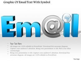 1114 Graphic Of Email Text With Symbol Powerpoint Template