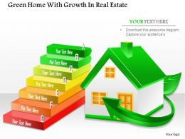 1114 Green Home With Growth In Real Estate Powerpoint Template