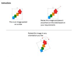 1114 Growing Arrow Made Of Cubes Image Graphics For Powerpoint