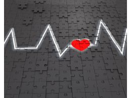 1114 Heart Beat And Heart Symbol For Health Stock Photo