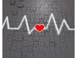 1114 Heart Rate Monitor With Heart Symbol Stock Photo