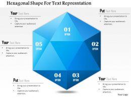 1114 Hexagonal Shape For Text Representation Powerpoint Template