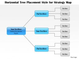 1114 Horizontal Tree Placement Style For Strategy Map Powerpoint Presentation