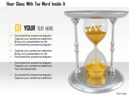 1114 Hour Glass With Tax Word Inside It Image Graphics For Powerpoint