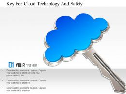 1114 Key For Cloud Technology And Safety Image Graphics For Powerpoint