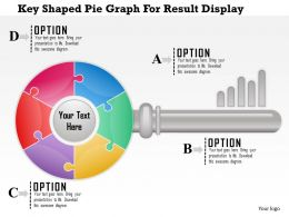 1114 Key Shaped Pie Graph For Result Display Powerpoint Template