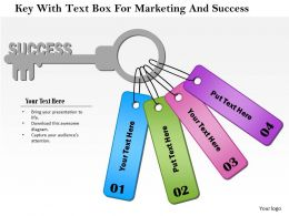 1114 Key With Text Box For Marketing And Success Powerpoint Template