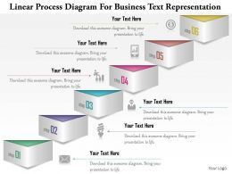 1114 Linear Process Diagram For Business Text Representation Powerpoint Template