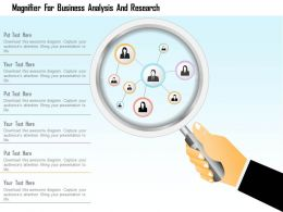 1114 Magnifier For Business Analysis And Research Presentation Template