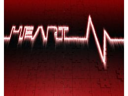 1114 Medical Background With Heart Pulse Rate Stock Photo