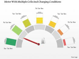 1114 Meter With Multiple Cells And Charging Conditions Powerpoint Template