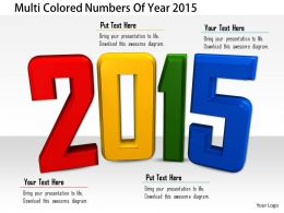 1114 Multi Colored Numbers Of Year 2015 Image Graphics For Powerpoint