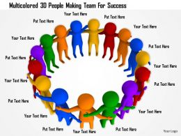 1114 Multicolored 3d People Making Team For Success Ppt Graphics Icons