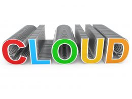 1114 Multicolored Cloud Text For Technology Stock Photo
