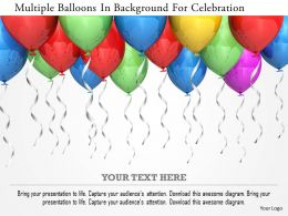 1114 Multiple Balloons In Background For Celebration Image Graphics For Powerpoint