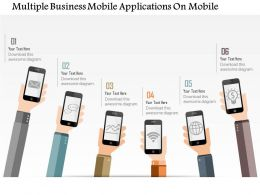 1114 Multiple Business Mobile Applications On Mobile Powerpoint Template