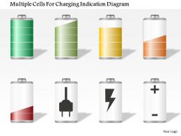 1114 Multiple Cells For Charging Indication Diagram Powerpoint Template