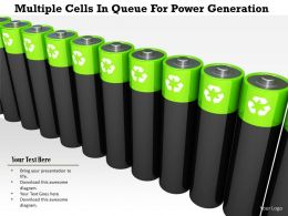 1114 Multiple Cells In Queue For Power Generation Image Graphic For Powerpoint