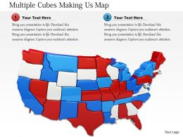 1114 Multiple Cubes Making Usa Map Image Graphics For Powerpoint