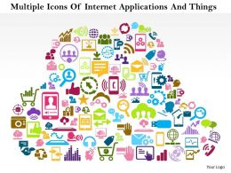 1114 Multiple Icons Of Internet Applications And Things Powerpoint Template