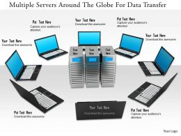 1114 Multiple Servers Around The Globe For Data Transfer Image Graphics For Powerpoint