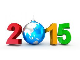 1114 New Year 2015 With Globe For New Year Celebration Stock Photo