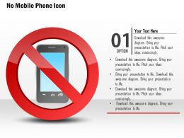 1114 No Mobile Phone Icons With Red Warning Sign Ppt Slide