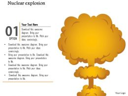 1114 Nuclear Explosion Cloud Diagram Mushroom Cloud Ppt Slide
