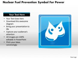 1114 Nuclear Fuel Prevention Symbol For Power Powerpoint Template