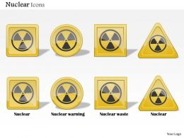 1114 Nuclear Icons Showing Warning Waste Alarm Toxic Ppt Slide