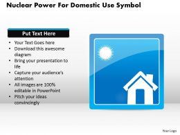 1114 Nuclear Power For Domestic Use Symbol Powerpoint Template