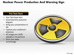 1114 Nuclear Power Production And Warning Sign Powerpoint Template