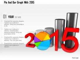 1114 Pie And Bar Graph With 2015 Image Graphics For Powerpoint
