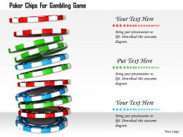 1114 Poker Chips For Gambling Game Image Graphics For Powerpoint