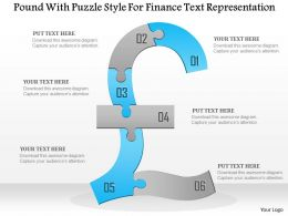 1114 Pound With Puzzle Style For Finance Text Representation Powerpoint Template