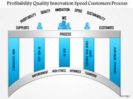 1114 Profitability Quality Innovation Speed Customers Process Powerpoint Presentation