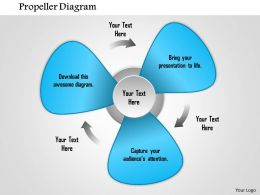 1114 Propeller Diagram For Powerpoint Powerpoint Presentation