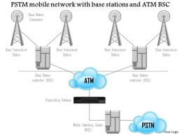 1114 Pstm Mobile Network With Base Stations And Atm Bsc Ppt Slide