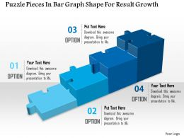 1114 Puzzle Pieces In Bar Graph Shape For Result Growth Powerpoint Template