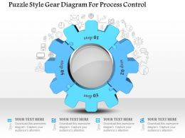 1114 Puzzle Style Gear Diagram For Process Control Powerpoint Template