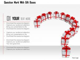 1114 Question Mark With Gift Boxes Image Graphics For Powerpoint