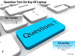 1114 Question Text On Key Of Laptop Image Graphics For Powerpoint