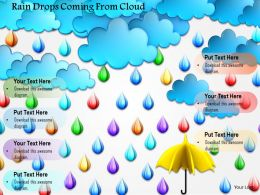 1114 Rain Drops Coming From Cloud Image Graphics For Powerpoint